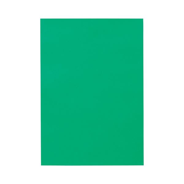 (まとめ) TANOSEE 色画用紙 四つ切 みどり 1パック(10枚) 【×30セット】 送料無料!