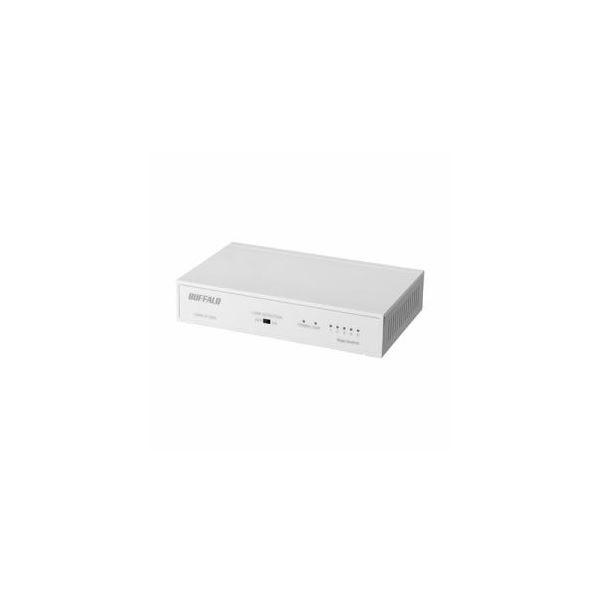 BUFFALO Giga対応 スイッチングハブ 5ポート 予約販売品 マーケティング ホワイトLSW6-GT-5NS LSW6-GT-5NS 送料込 ホワイト WH