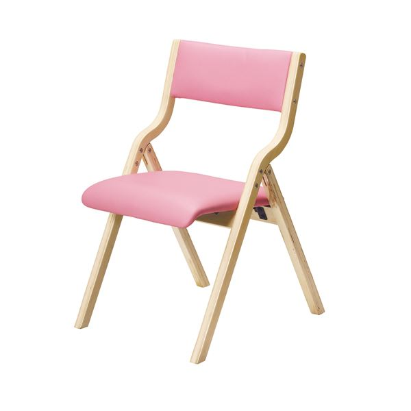 折り畳みチェア ピンク 完成品【代引不可】 送料込!