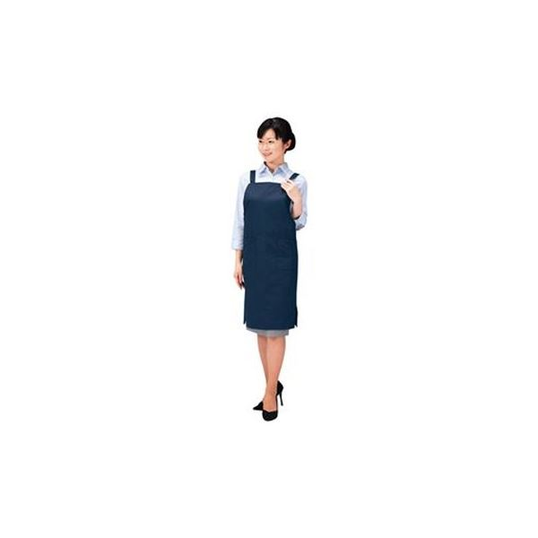 (まとめ)サンワサプライ エコ・OAエプロンフリーサイズ ネイビー APR-ECO1K 1枚【×3セット】 送料無料!