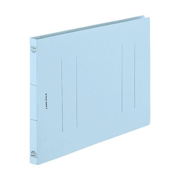 (まとめ) ライオン事務器 フラットファイル(環境)樹脂押え具 A4ヨコ 150枚収容 背幅18mm ライトブルー A-510KA4E 1セット(10冊) 【×30セット】 送料無料!