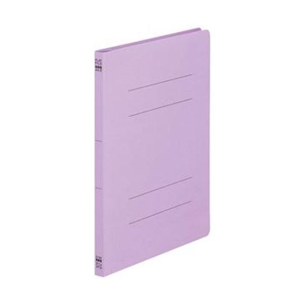 (まとめ)TANOSEE フラットファイル(ノンステープルタイプ)A4タテ 150枚収容 背幅18mm 紫 1パック(10冊)【×50セット】 送料無料!