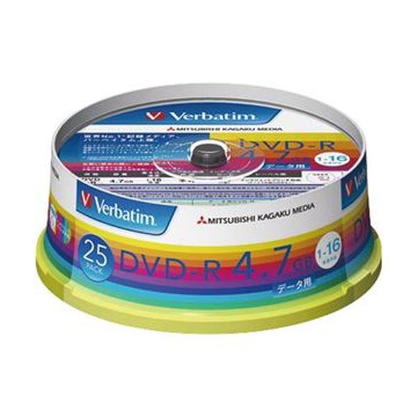 (まとめ)バーベイタム データ用DVD-R4.7GB 1-16倍速 ホワイトワイドプリンタブル スピンドルケース DHR47JP25V1 1パック(25枚)【×10セット】 送料無料!