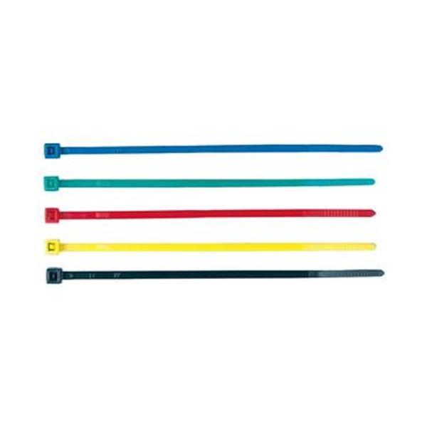 (まとめ)サンワサプライ ケーブルタイ カラー5色長さ101mm 5色(ブルー・グリーン・レッド・イエロー・ ブラック)CA-612 1パック(50本:各色10本)【×50セット】 送料無料!