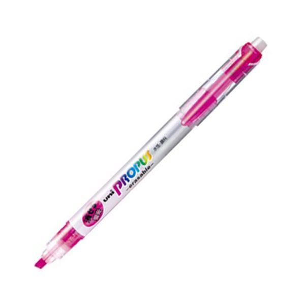 (まとめ) 三菱鉛筆 蛍光ペン プロパス・イレイサブル 桃 PUS151ER.13 1本 【×100セット】 送料無料!