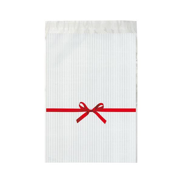 テープ付だから 袋に入れるだけで簡単に完成 まとめ ヘッズ リボンテープ付OPPバッグ 白RI-TO2 人気 超特価SALE開催 50枚 1パック ×10セット 送料無料