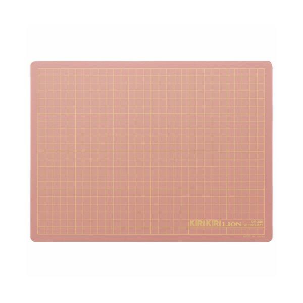 (まとめ) ライオン事務器 カッティングマットKIRIKIRI 再生PVC製 320×240×1.2mm ピンク CM-30K 1枚 【×30セット】 送料無料!