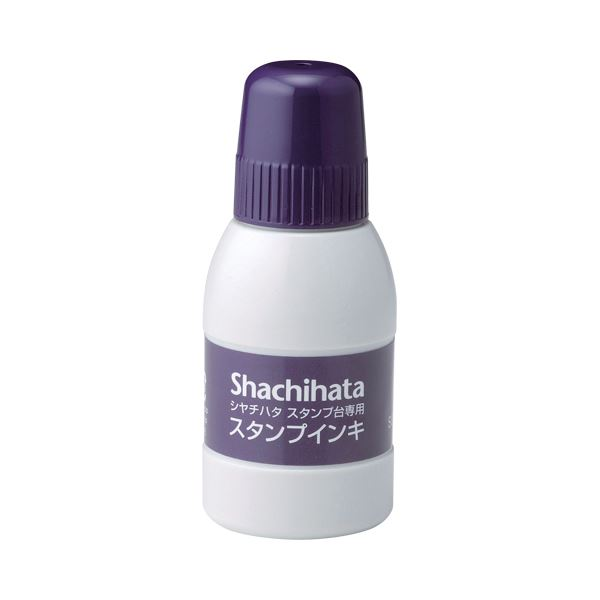 (まとめ) シヤチハタ スタンプ台専用補充インキ 40ml 紫 SGN-40-V 1個 【×30セット】 送料無料!