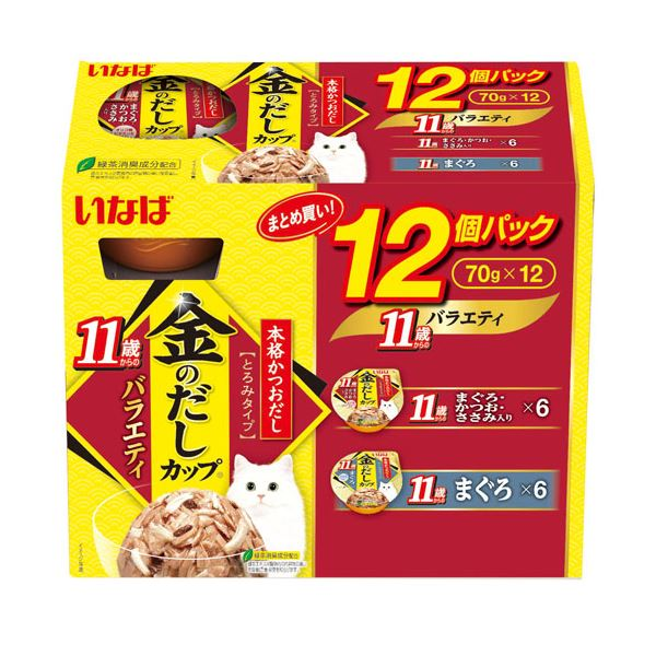 (まとめ)金のだしカップ 11歳からのバラエティ 70g×12個パック IMC-504【×8セット】【ペット用品・猫用フード】 送料無料!