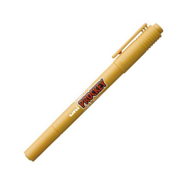 (まとめ) 三菱鉛筆 水性マーカー プロッキー 細字丸芯+極細 黄土色 PM120T.19 1本 【×100セット】 送料無料!