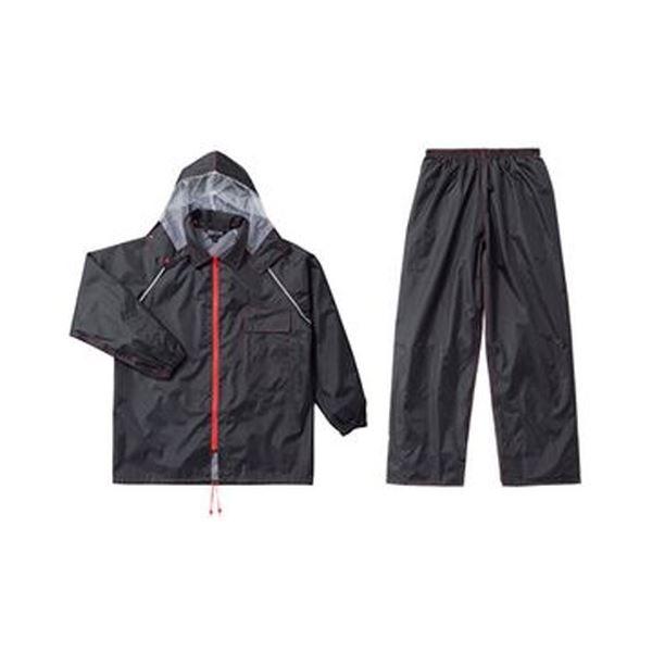 (まとめ)川西工業 レインスーツ ブラックイーグルLLサイズ #3673LL 1着【×5セット】 送料無料!