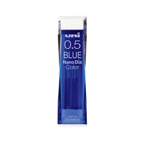 (まとめ)三菱鉛筆 ナノダイヤC芯0.5 ブルー U05202NDC.33【×100セット】 送料込!