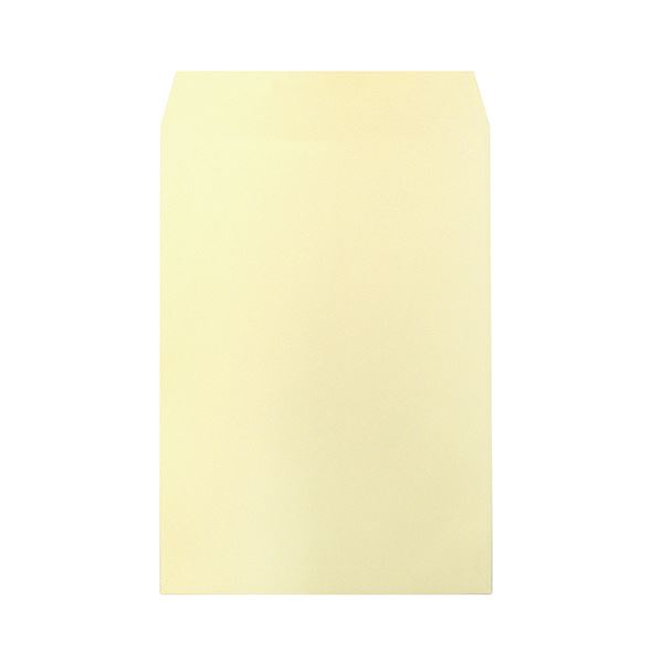 (まとめ) ハート 透けないカラー封筒 テープ付角2 パステルクリーム XEP473 1パック(100枚) 【×10セット】 送料無料!