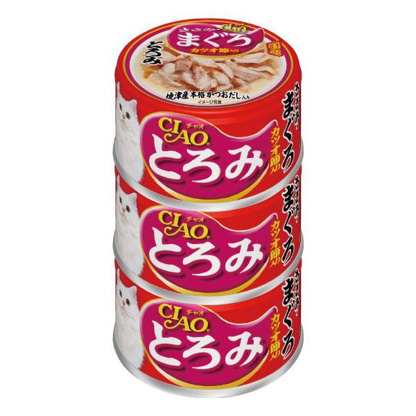 (まとめ)CIAO とろみ ささみ・まぐろ カツオ節入り 3缶 (ペット用品・猫フード)【×15セット】 送料込!