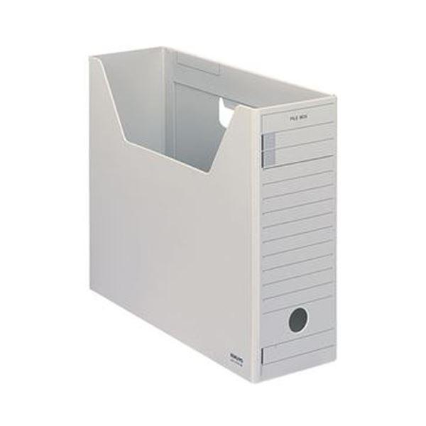 (まとめ)コクヨ ファイルボックス-FS(Hタイプ)A4ヨコ 背幅102mm グレー A4-LFH-M 1セット(5冊)【×3セット】 送料無料!