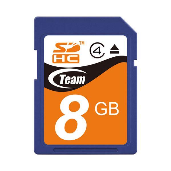 (まとめ) TEAM SDHCカード 8GB TG008G0SD24X【×10セット】 送料無料!