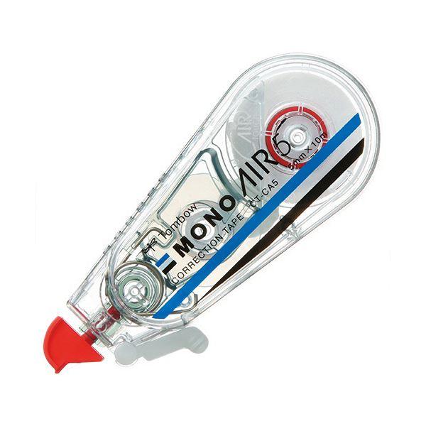 (まとめ) トンボ鉛筆 修正テープ モノエアー5mm幅×10m 赤 CT-CA5 1セット(5個) 【×10セット】 送料無料!