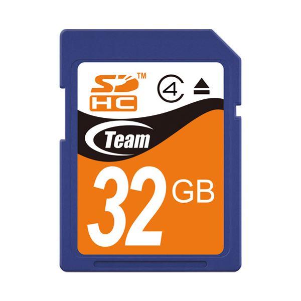 (まとめ) TEAM SDHCカード 32GB TG032G0SD24X【×5セット】 送料無料!