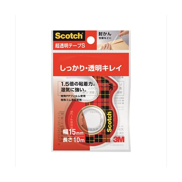 (まとめ)スリーエム ジャパン 超透明テープS 15mm×10m CC1510-D-N【×200セット】 送料込!