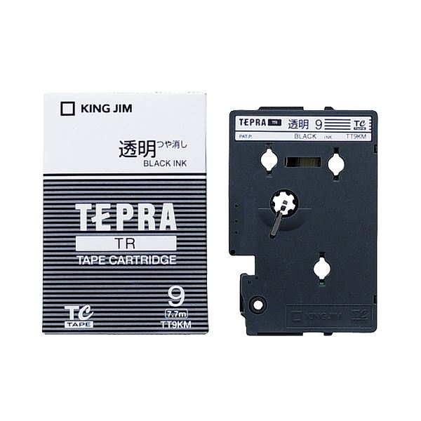 (まとめ) キングジム テプラ TR テープカートリッジ 9mm 透明/黒文字 TT9KM 1個 【×10セット】 送料無料!