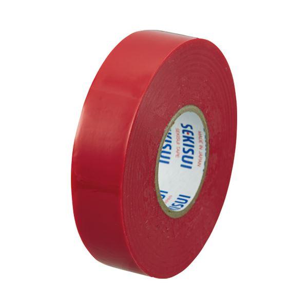 (まとめ)セキスイ ビニールテープ V360R02 19mm×20m 赤【×200セット】 送料込!