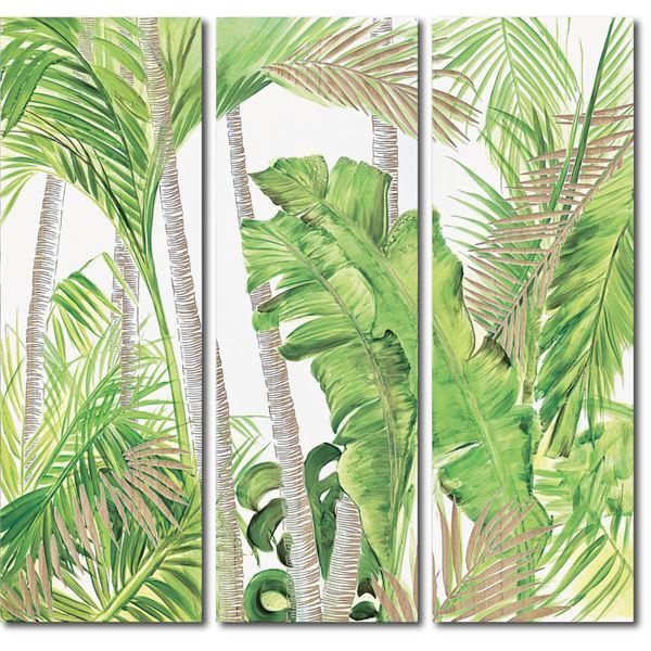 ウッドスカルプチャーアート 3枚セット パーム&バナナ 送料込 返品OK 無条件返品・交換 敬老の日 喜寿祝