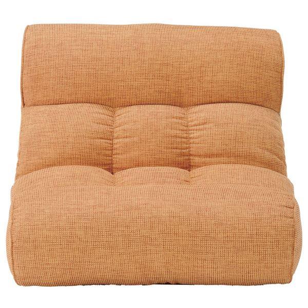ソファー座椅子/フロアチェア 【オレンジ】 ワイドタイプ 41段階リクライニング 『ピグレット2nd-ベーシック』 送料込!