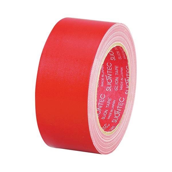 (まとめ) スリオンテック 布粘着テープ No.3390 50mm×25m 赤 No.3390-50RD 1巻 【×30セット】 送料無料!