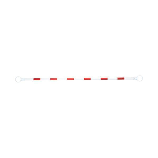 (まとめ) スマートバリュー コーンバー 赤/白 N164J-R/W【×10セット】 送料込!