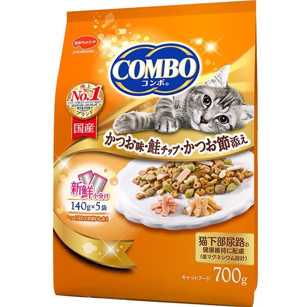 (まとめ)コンボ キャット かつお味・鮭チップ・かつお節添え 700g【×12セット】【ペット用品・猫用フード】 送料込!