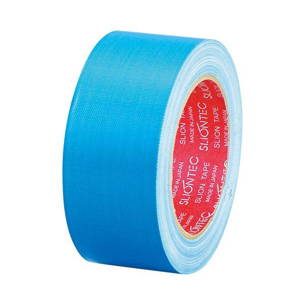 (まとめ) スリオンテック 布粘着テープ No.3390 50mm×25m ライトブルー No.3390-50LB 1巻 【×30セット】 送料無料!
