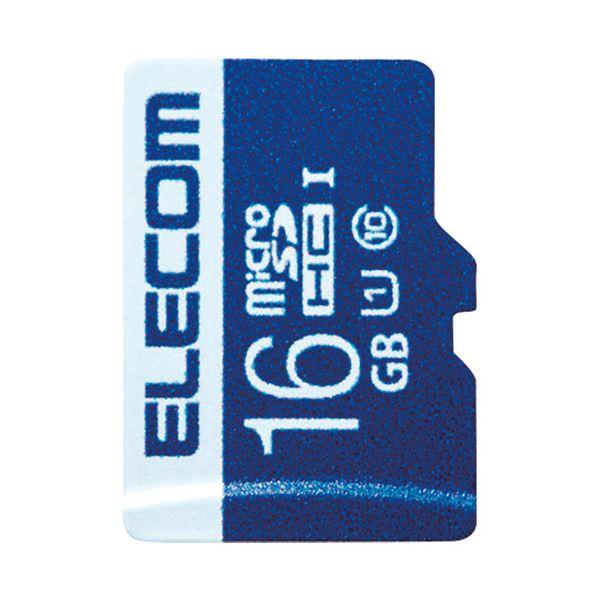 (まとめ) エレコム microSDHCカード 16GB MF-MS016GU11R【×5セット】 送料無料!