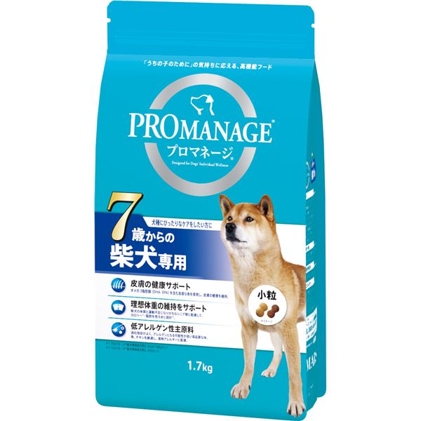 (まとめ)プロマネージ 7歳からの柴犬専用 1.7kg【×6セット】【ペット用品・犬用フード】 送料込!