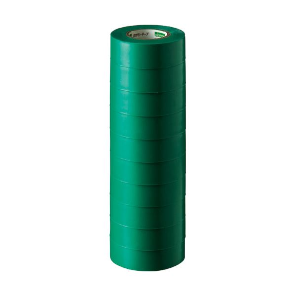 (まとめ) オカモト ビニールテープ No.470 19mm×10m 緑 No.470-19x10 ミドリ 1パック(10巻) 【×30セット】 送料無料!