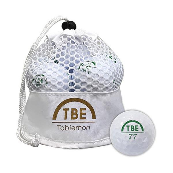 12個セット TOBIEMON 2ピース カラーボール メッシュバック入り ホワイト TBM-2MBWX12 送料無料!