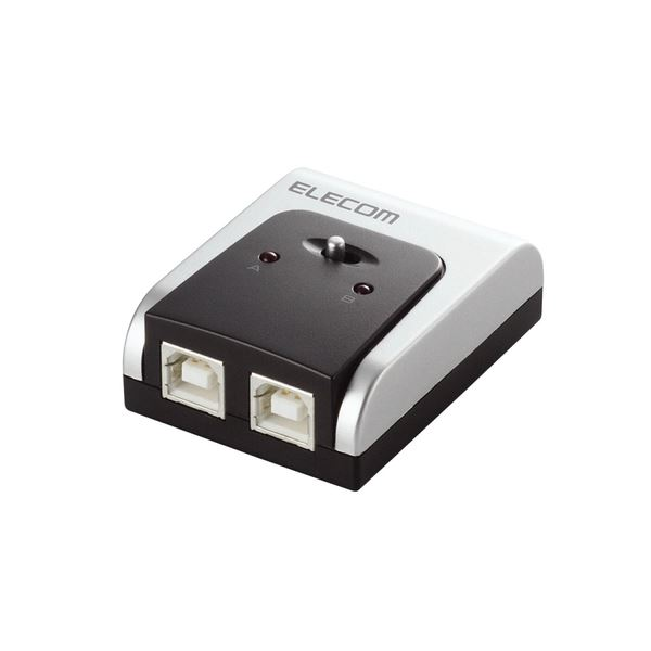 (まとめ) エレコム USB2.0対応切替器 2回路U2SW-T2 1台 【×5セット】 送料無料!