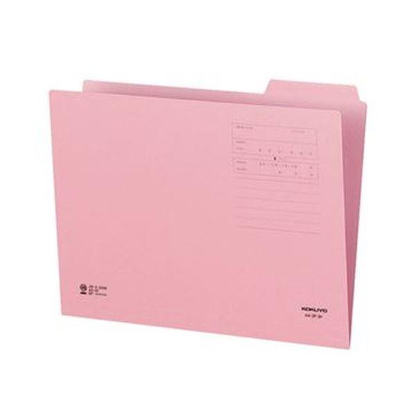 (まとめ)コクヨ 1/3カットフォルダー(カラー)A4 第3見出し ピンク A4-3F-3P 1セット(10冊)【×20セット】 送料無料!