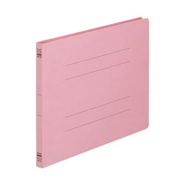 (まとめ)TANOSEE フラットファイル(ノンステープルタイプ)A4ヨコ 150枚収容 背幅18mm ピンク 1パック(10冊)【×20セット】 送料無料!