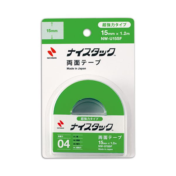 (まとめ) ニチバン ナイスタック 両面テープ超強力タイプ 小巻 15mm×1.2m NW-U15SF 1巻 【×30セット】 送料無料!