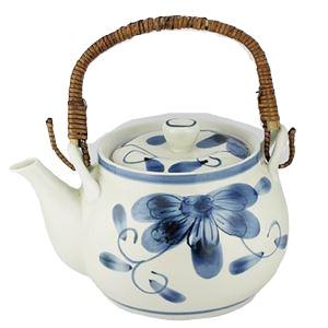 (まとめ)西海陶器 青い花 軽量6号土瓶【×5セット】 送料無料!