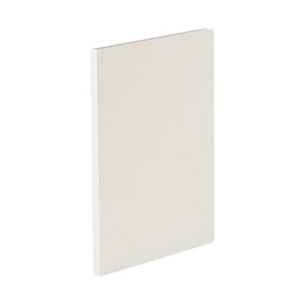 (まとめ)TANOSEE 貼り表紙クリアファイルA4タテ 10ポケット フロスティホワイト 1冊【×50セット】 送料無料!