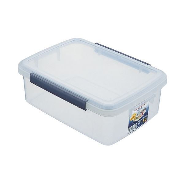 (まとめ) 保存容器/キッチンボックス 【5.6L】 プラスチック製 パッキン付き ユニックス ウィル 【36個セット】 送料込!