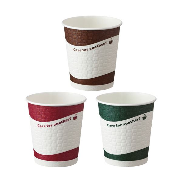 TANOSEE 断熱レリーフカップ Brick Avenue 250ml(8オンス)1セット(1000個:50個×20パック) 送料無料!