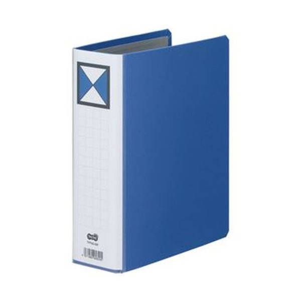 (まとめ)TANOSEE 両開きパイプ式ファイルA5タテ 500枚収容 50mmとじ 背幅66mm 青 1冊【×20セット】 送料無料!