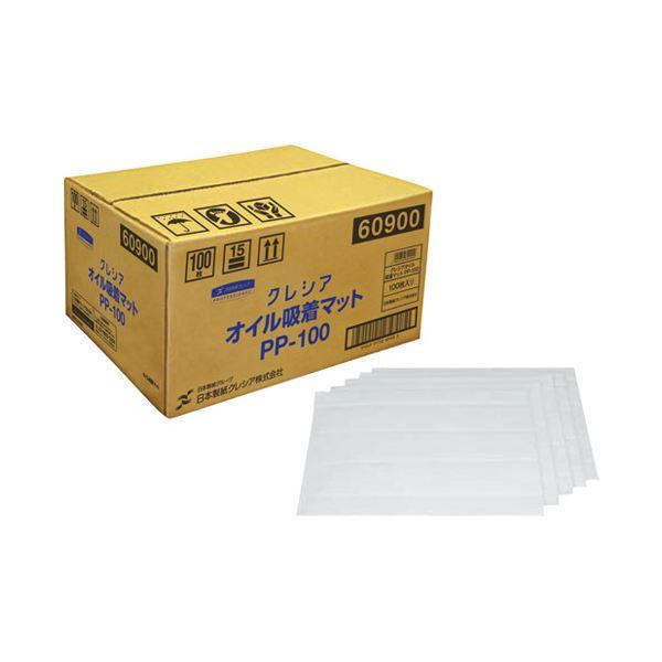 (まとめ)日本製紙クレシア クレシア オイル吸着マット PP-100 100枚【×5セット】 送料込!