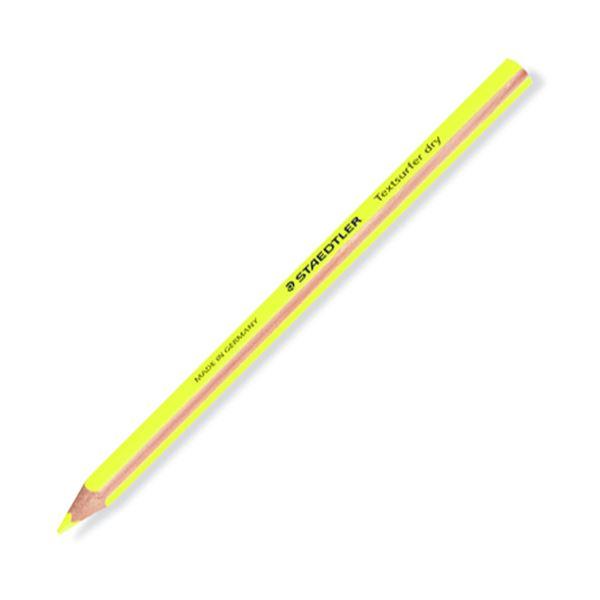 (まとめ) ステッドラー テキストサーファー ドライ蛍光色鉛筆(太軸) ネオンイエロー 128 64-1 1セット(12本) 【×10セット】 送料無料!