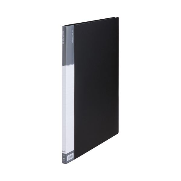 (まとめ) TANOSEEクリヤーファイル(台紙入) A3タテ 20ポケット 背幅15mm ダークグレー 1セット(5冊) 【×5セット】 送料無料!