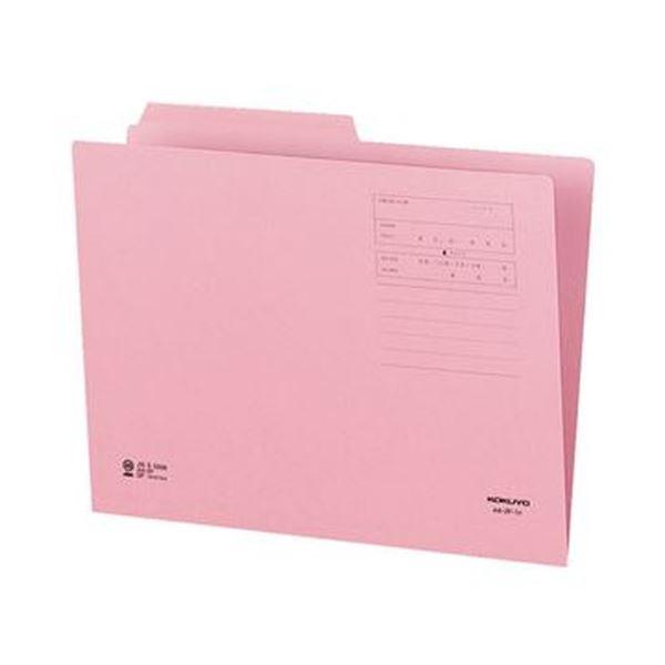 (まとめ)コクヨ 1/2カットフォルダー(カラー)A4 第1見出し ピンク A4-2F-1P 1セット(10冊)【×20セット】 送料無料!