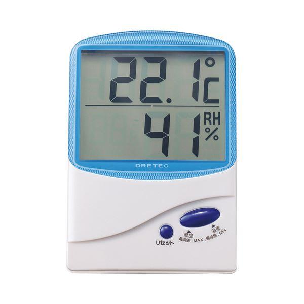 (まとめ) ドリテック デジタル温湿度計 ブルー O-206BL 1個 【×5セット】 送料無料!