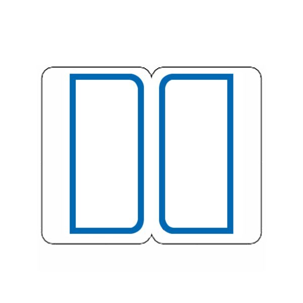 (まとめ) ライオン事務器 インデックスラベル 大27×34mm 青枠 BL1-100 1パック(900片:9片×100シート) 【×10セット】 送料無料!